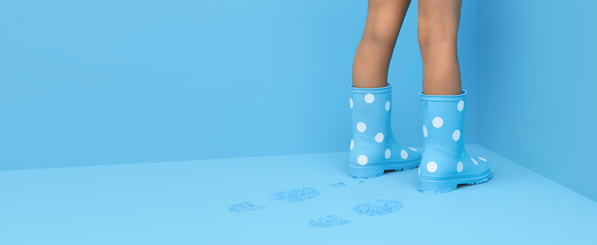 Child light blue legs
